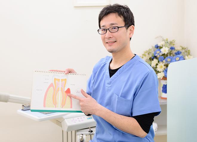 患者さまが歯周病予防を継続できるように、歯周病についての説明を大切にしています