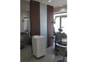 窓から光が差し込む明るい診療室です。