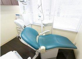 診療チェアにはリラックスしてお座りください。