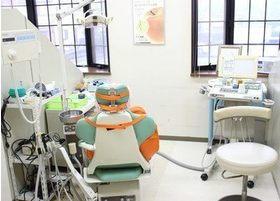 診療室です。周りを気にすることなく治療に専念できます。