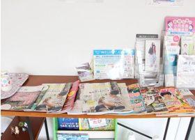 各種雑誌類を置いております