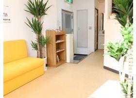 院内は清潔感があり、観葉植物も置いているのでリラックスできる雰囲気になっています。