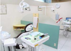 診療室は、プライバシーに配慮し、パーティションで仕切られています。