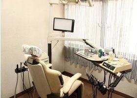 診療ユニットには、モニター画面を設置しています。
