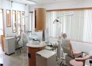 高級感のある診療室で治療を行います。