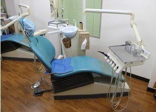 診療チェアの衛生管理は完璧です。