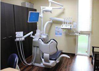 診療チェアについているモニターを使った説明も行えます。