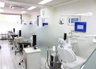 仕切りのある診療室でプライバシーに配慮しています。