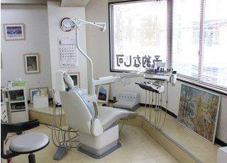 広い診療室です。快適に治療を受けることができます。