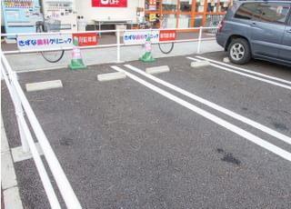 駐車場も設置。スーパービッグさん前。