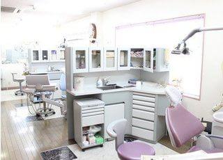 治療スペースを一つ一つ区切ることで患者様が治療を受けやすい診療室になりました。