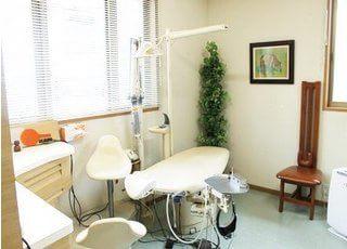 個室制の診療室です。治療について不安点などがありましたら、些細なことでもお伝えください。