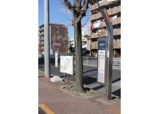 最寄のバス停は稲葉地町です。