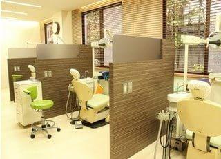 診療室です。明るくオープンな雰囲気がモチーフです。