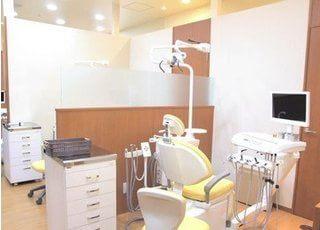 半個室の診療室です。