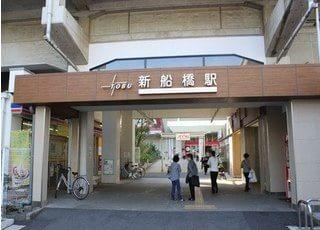 新船橋駅から徒歩8分のところにございます。