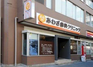 外観です。阿波座駅より徒歩3分の位置にございます。