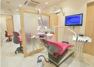 診察室です。周りが気にならないようにパーテーションを設置しております。
