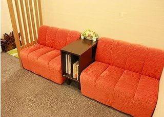 おしゃれな待合室です。