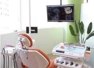 診療室です。落ち着いた診療室で治療を受けることができます。