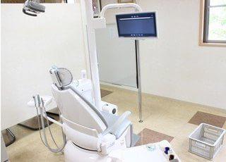 診療室には仕切りがありますので、周りを気にする事なく治療に専念出来ます。