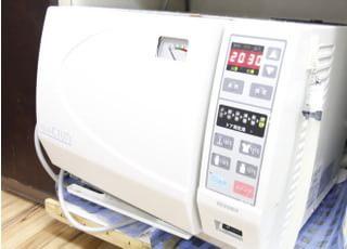 患者様お一人ひとりに使用する機器は徹底的に滅菌しています。