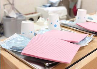 患者様ごとに器具などを交換しております。