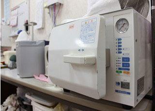 清潔にすることで、しっかりと院内感染を予防しております。