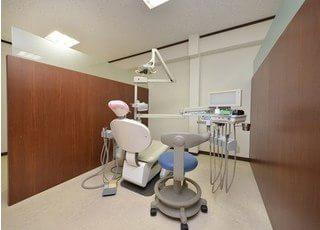 診療室は広々としており、両側が仕切りで仕切られていますので、プライバシーの保護ができます。