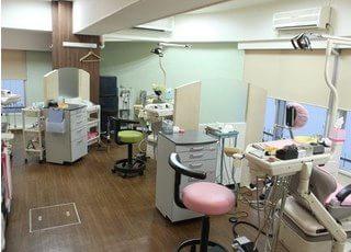 パーテーションで一つ一つ区切られているので安心して診療を受ける事ができます。