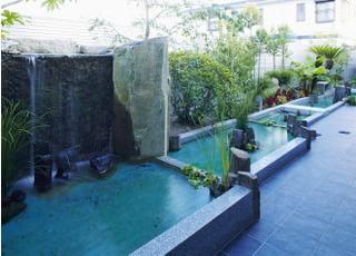 外も日本庭園のような造りの庭がございます。