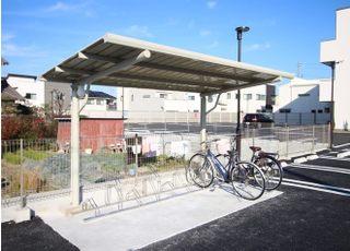 自転車でお越しの方は、駐輪場をご利用ください。
