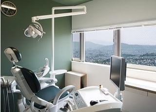 晴れると診療室から広島市内が一望できます。