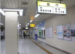 藤阪駅ルート:①片町線藤阪駅を降りたら、藤阪・田口方面の出口へ出ます。