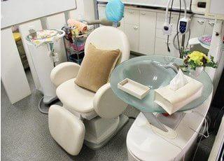 診療チェアです。こちらで様々な治療を行います。