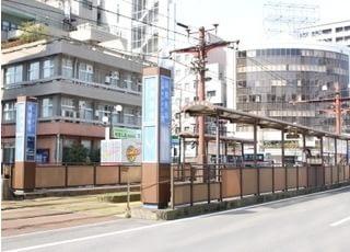 最寄駅の高見馬場駅になります。