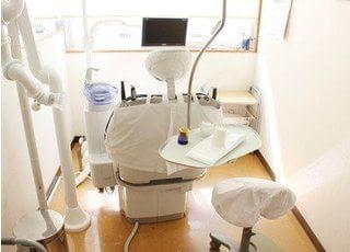 開放感がある診療室です。