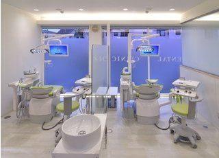 診療室です。ご自身の歯を大切に、心のこもった治療を致します。