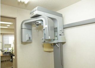 歯科用CTです。高精度な治療をお届けするために、医療機器を充実させております。