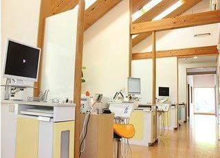 診療室は各ブース仕切っておりますので、プライベート空間をお楽しみいただけます。