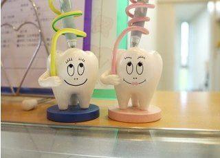 可愛らしい一面もある、野田ふれあい歯科です。