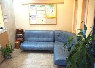 待合室には観葉植物が置いてあり、リラックスしてお待ちいただけます。