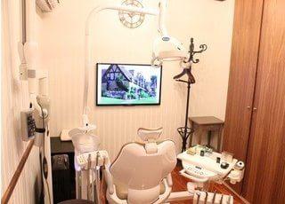 診療室は個室制ですので、他の患者様に見られる心配なく、安心して治療を受けていただけます。