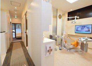 診療室は個室になっており、患者様のプライバシーに配慮しております。