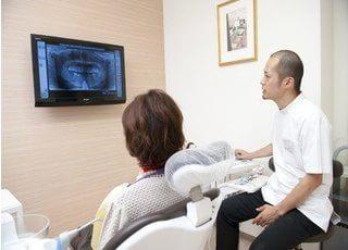 患者様に丁寧にご説明し、納得していただいてから治療に移ります。