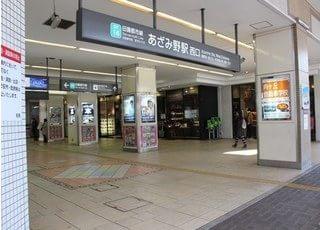 あざみ野駅よりバスが出ています。
