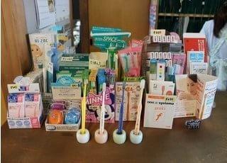 おすすめの歯ブラシなどを置いています。ご覧ください。