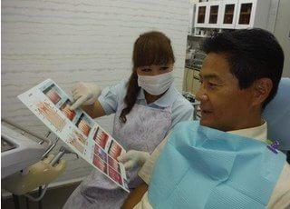歯の状態を確認しながら治療します。