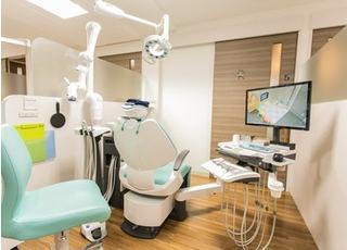 各診療室ごとにパーテーションで仕切られています。
