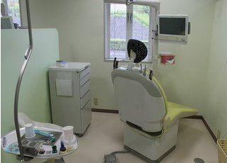 診療室は個室になっています。
